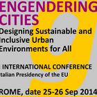25-26 IX 2014 – międzynarodowa konferencja 'Engendering cities', Rzym (Włochy)