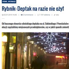 nowiny.pl  22.01.2015 Rybnik: Deptak na razie nie ożył