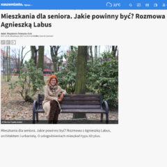 """""""Mieszkania dla seniora. Jakie powinny być? Rozmowa z Agnieszką Labus"""" NaszeMiasto.pl Bytom"""