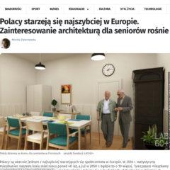 """""""Polacy starzeją się najszybciej w Europie. Zainteresowanie architekturą dla seniorów rośnie"""" w Onet.pl"""