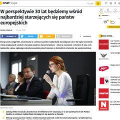 """""""W perspektywie 30 lat będziemy wśród najbardziej starzejących się państw europejskich"""" Onet Śląsk"""